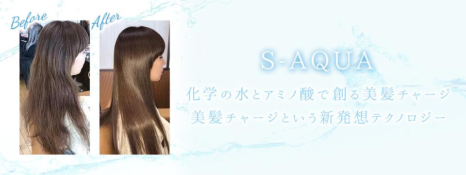 S-AQUA 化学の水とアミノ酸で創る美髪チャージ 美髪チャージという新発想テクノロジー